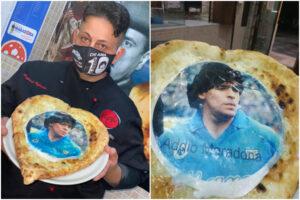 """La pizza per Maradona: """"Nato tre settimane dopo il suo arrivo e chiamato come Diego"""""""