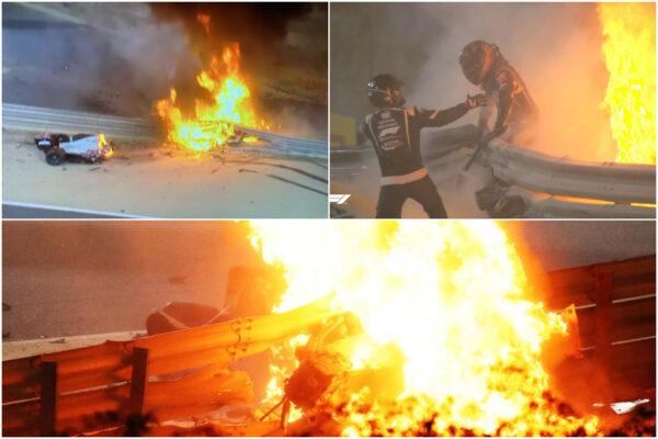 Come sta Romain Grosjen, il pilota di Formula Uno uscito vivo dalla vettura in fiamme