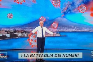 Il Vesuvio 'erutta' Coronavirus, Giletti e lo sciacallaggio di Non è l'Arena sul Covid in Campania