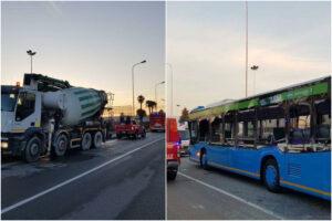 Camion contro autobus, fiancata distrutta e cinque ragazzi feriti nell'impatto