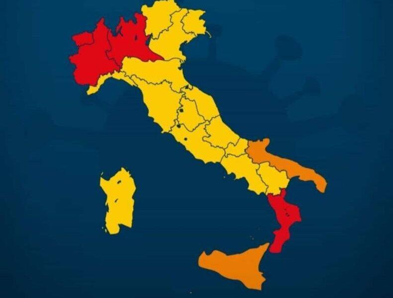 Giallo, arancione e rosso: un nuovo tricolore che penalizza tutte le regioni