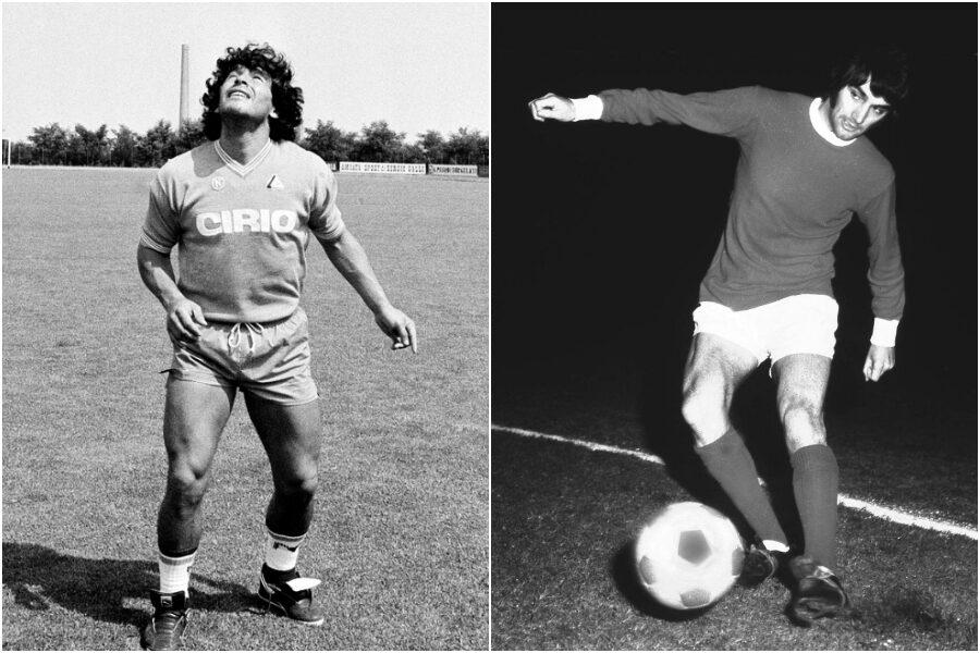 """Maradona e George Best, i due """"campioni maledetti"""" morti lo stesso giorno"""