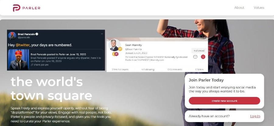 Cos'è Parler, il social network simile a Twitter che piace all'estrema destra e a Trump