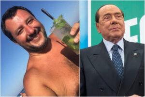 Le differenze abissali tra un liberale come Berlusconi e uno sceriffone da spiaggia come Matteo Mojito Salvini