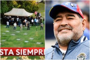 Funerali Maradona, Diego sepolto vicino ai genitori: l'ultimo saluto ripreso dai droni