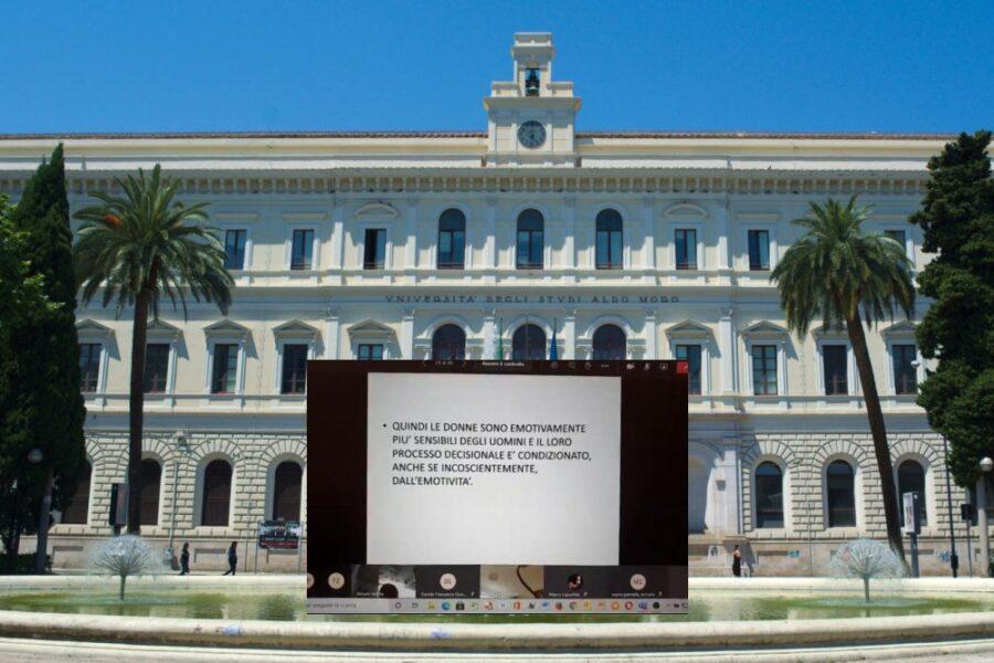 """""""Giudici donne non dovrebbero esserci"""", sospeso il prof dell'Università di Bari per la lezione sessista"""