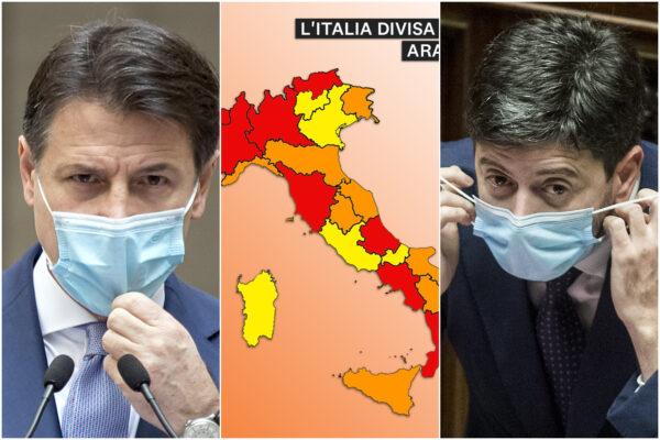 Zone rosse, nuova ordinanza di Speranza: rinnovate le restrizioni per sei regioni