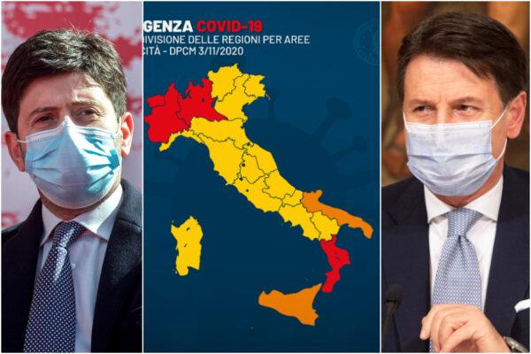 Italia divisa in zone, quali regioni rischiano la chiusura con i nuovi dati dell'Istituto Superiore di Sanità
