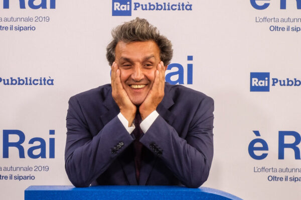 Foto  LaPresse/ Matteo Corner 09 Luglio 2019, Milano Presentazione palinsesti RAI Nella foto Flavio Insinna