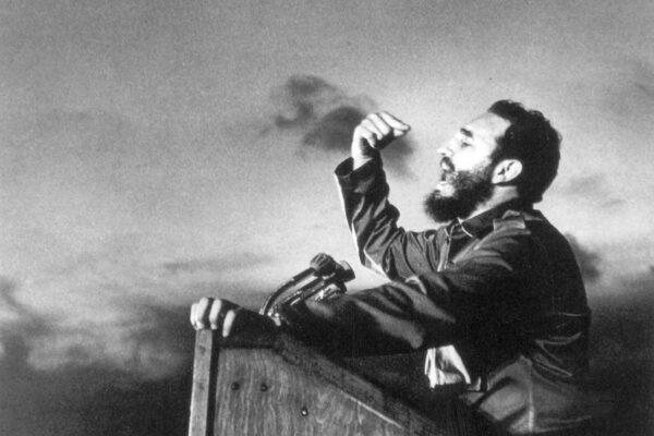 Fidel Castro, a master orator, delivers a speech circa 1960. Sovfoto/UIG/Getty Images