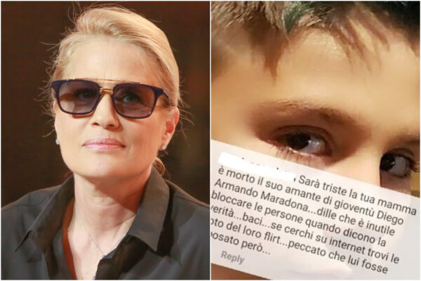 """""""Sarà triste tua mamma per la morte del suo amante"""", figlio di Heather Parisi insultato per la storia con Maradona"""