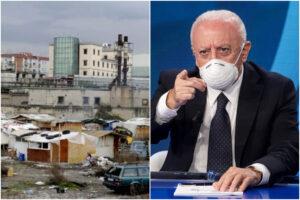 Napoli, campo rom focolaio: De Luca dispone la zona rossa con Esercito e forze dell'ordine