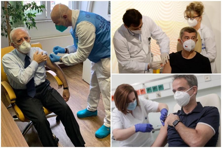 Tutti i De Luca d'Europa: i politici che si sono vaccinati nel V-Day