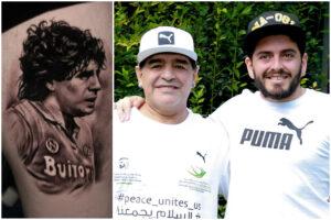 Maradona, il tatuaggio di Diego jr per omaggiare il padre: El Pibe de Oro con la maglia del Napoli