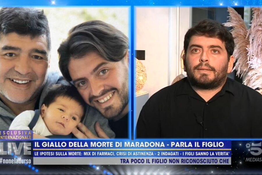 """Diego Maradona Jr.: """"Ringrazio tutti i medici e in particolare Ascierto, mi hanno salvato la vita"""""""