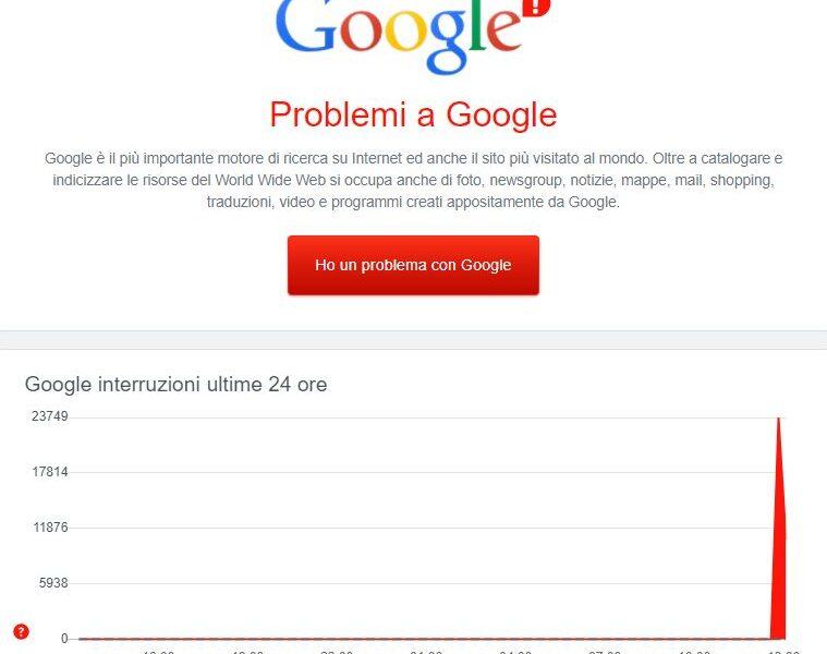 Google down, offline YouTube, Gmail e Drive in tutto il mondo: stop anche alla Dad con Meet