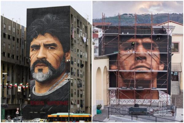 """Maradona, il nuovo murales di Jorit Agoch: """"Solo qui ha senso"""""""