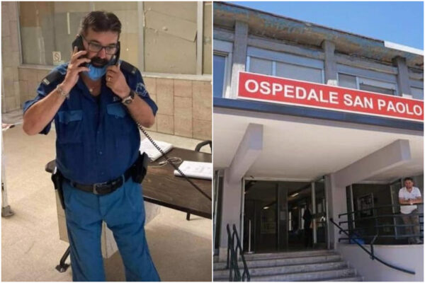 """Covid, l'ospedale San Paolo piange il vigilantes """"Mimmuccio"""": """"Ci difendevi sempre"""""""