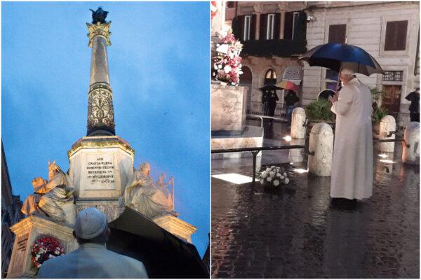 Immacolata, blitz all'alba di papa Francesco in piazza di Spagna e a Santa Maria Maggiore