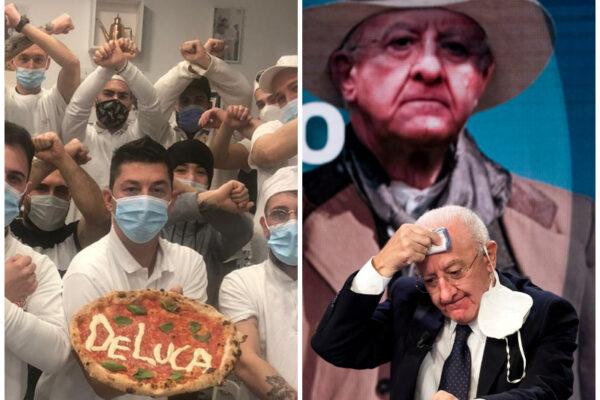 """La pizza De Luca, la protesta di Errico Porzio contro il governatore: """"Non hai rispetto dei lavoratori"""""""