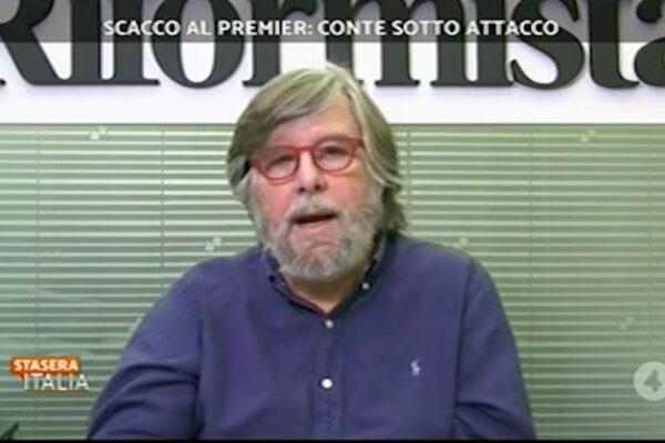 """Piero Sansonetti al tg4 interviene su Conte e Recovery Fund: """"Il piano è fatto coi piedi, Conte premier inesistente"""""""