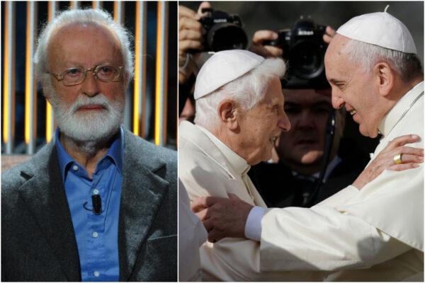 """Le fantascientifiche teorie di Scalfari: """"I due papi si dividono il lavoro"""""""