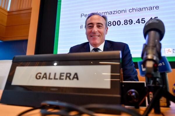 Foto Claudio Furlan – LaPresse  24 Febbraio 2020 Milano (Italia)  News Conferenza stampa in regione Lombardia per fare il punto sulla emergenza Coronavirus Nella foto: Giulio Gallera