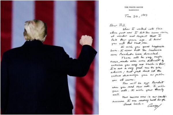 """Trump non andrà all'insediamento di Biden, Bush invece nel '93 scrisse a Clinton """"Sii felice"""""""