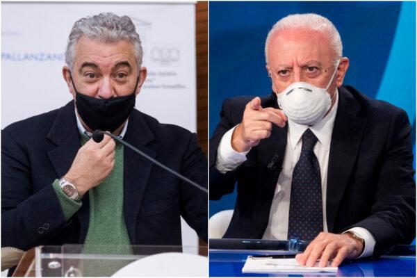 Vaccini, scontro furioso tra De Luca e Arcuri: scambio di accuse sul piano di distribuzione