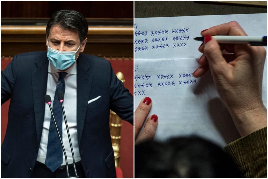 Conte, vittoria di Pirro in Senato (156 si). Italia Viva si astiene, due 'traditori' in Forza Italia
