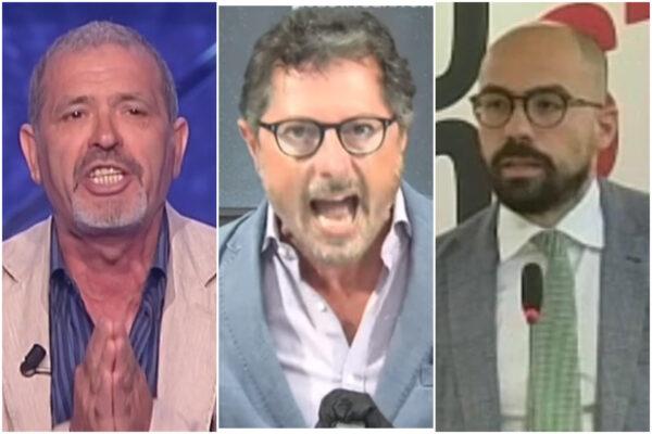 Da sinistra il garante dei detenuti Pietro Ioia, il consigliere regionale Francesco Emilio Borrelli e l'avvocato Raffaele Minieri