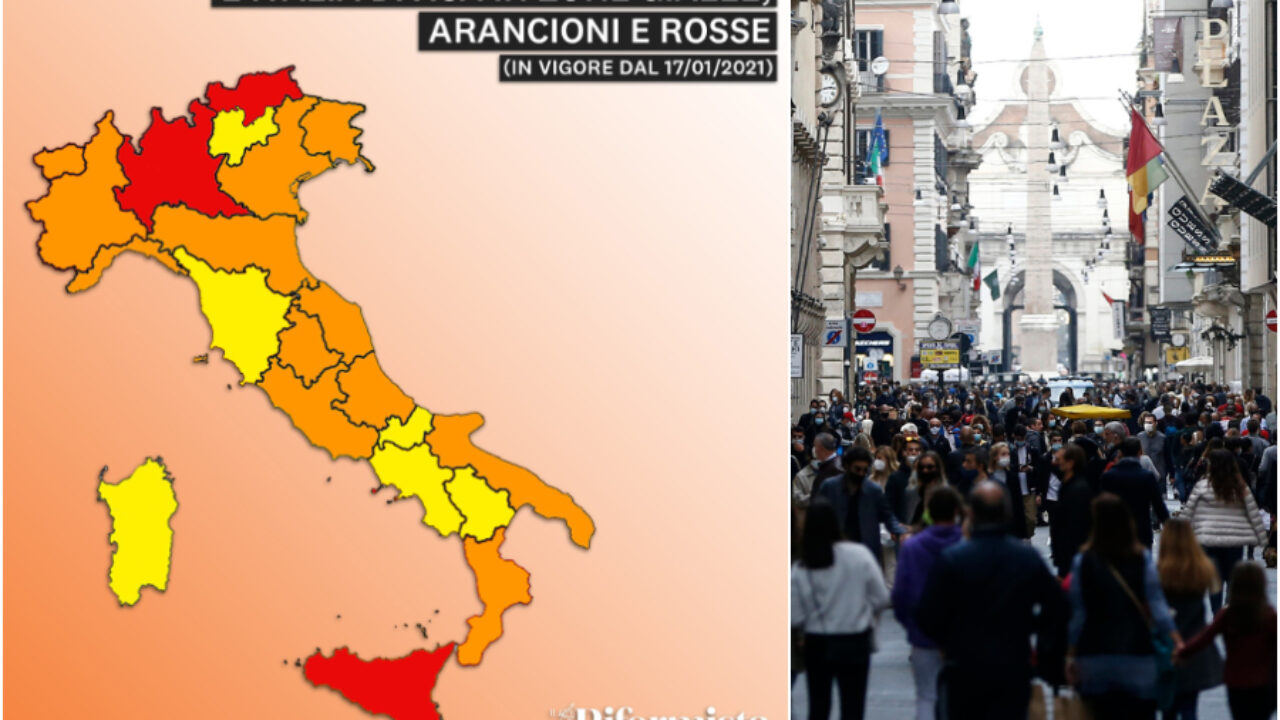 Cartina Italia E Province.Regioni In Zona Arancione E Rossa La Nuova Mappa Dell Italia Lockdown Per Lombardia Sicilia E Bolzano Il Riformista