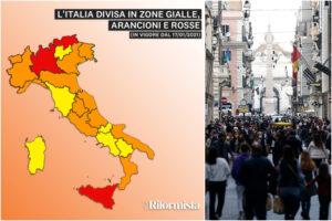 Regioni in zona arancione e rossa, la nuova mappa dell'Italia: 'lockdown' per Lombardia, Sicilia e Bolzano