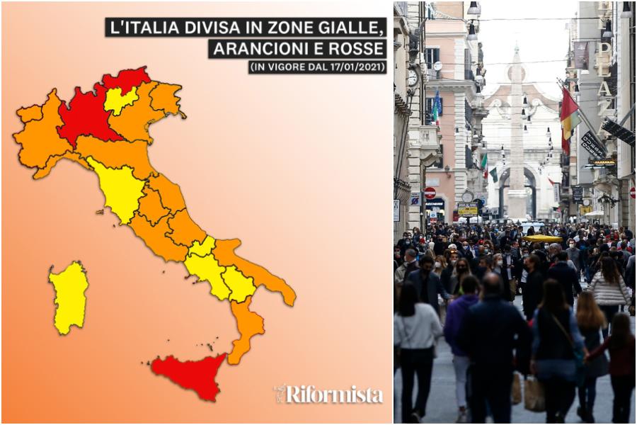 Cartina Italia Regioni.Regioni In Zona Arancione E Rossa La Nuova Mappa Dell Italia Lockdown Per Lombardia Sicilia E Bolzano Il Riformista