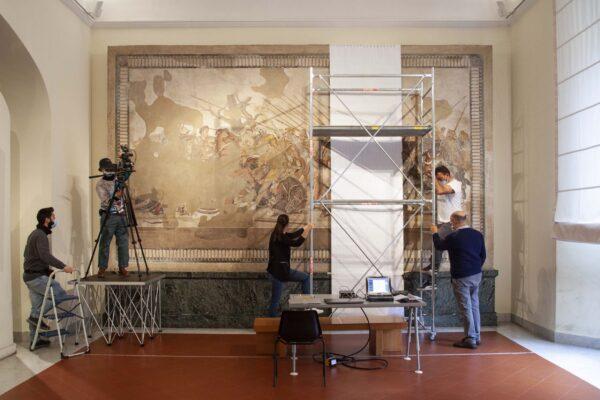 Al via le attività di restauro del grande Mosaico di Alessandro: sarà ultimato entro luglio