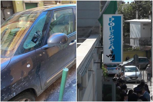 """Napoli, polizia ferma ladro d'auto. Un residente: """"Hanno aperto la macchina e rubato succo di mela"""""""