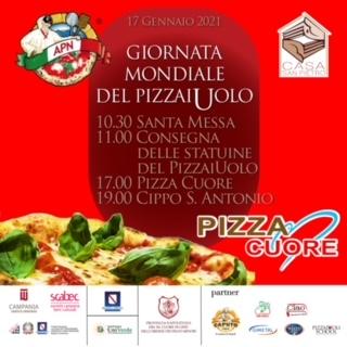 """Giornata mondiale del pizzaiuolo, il 17 gennaio """"La pizza del cuore"""" all'Apn"""