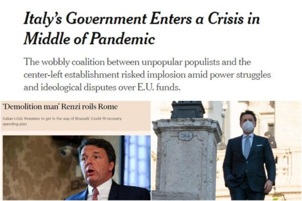 """Renzi travolto dalla stampa estera, il leader di Italia Viva è il """"demolition man"""" responsabile della crisi"""