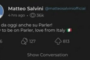 Parler è offline, rimosso il social network sovranista: Salvini si era appena iscritto