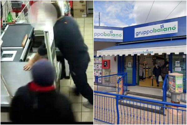 Napoli, rapina al supermercato prima del cenone e fuga a piedi