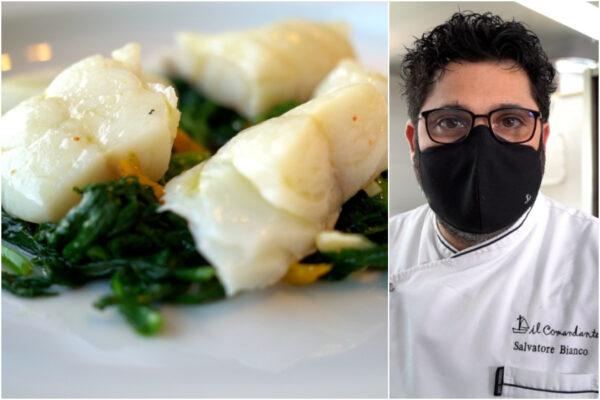 Ricetta dell'insalata di baccalà con broccoli e peperoni, una delizia dello chef stellato Salvatore Bianco