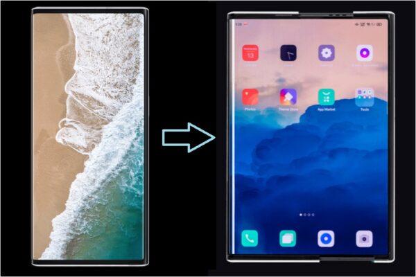 Smartphone che si allarga, come funziona il display di Oppo X 2021