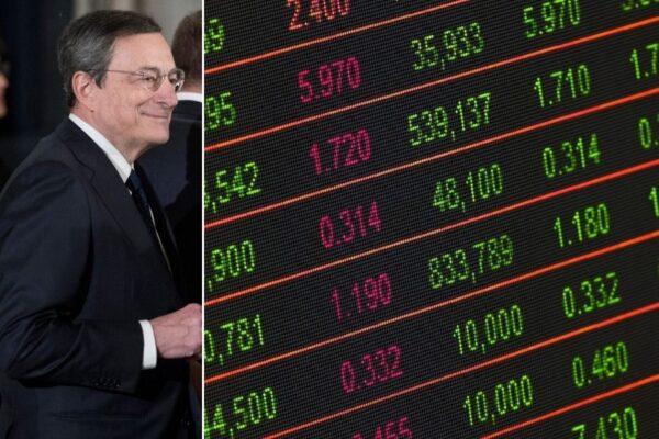 Effetto Draghi sui mercati: lo spread in picchiata punta quota 100, Piazza Affari vola