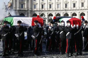"""Funerali di Stato per Attanasio e Iacovacci: """"Uccisi da una violenza feroce"""""""