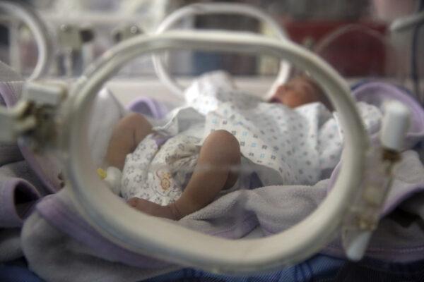 Bambino in incubatrice, foto di repertorio
