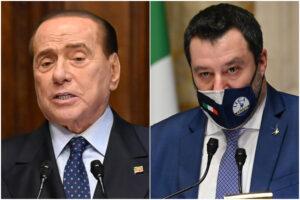 Salvini pur di entrare nel governo Draghi abbandona il sovranismo, ma Berlusconi gli ruba la scena