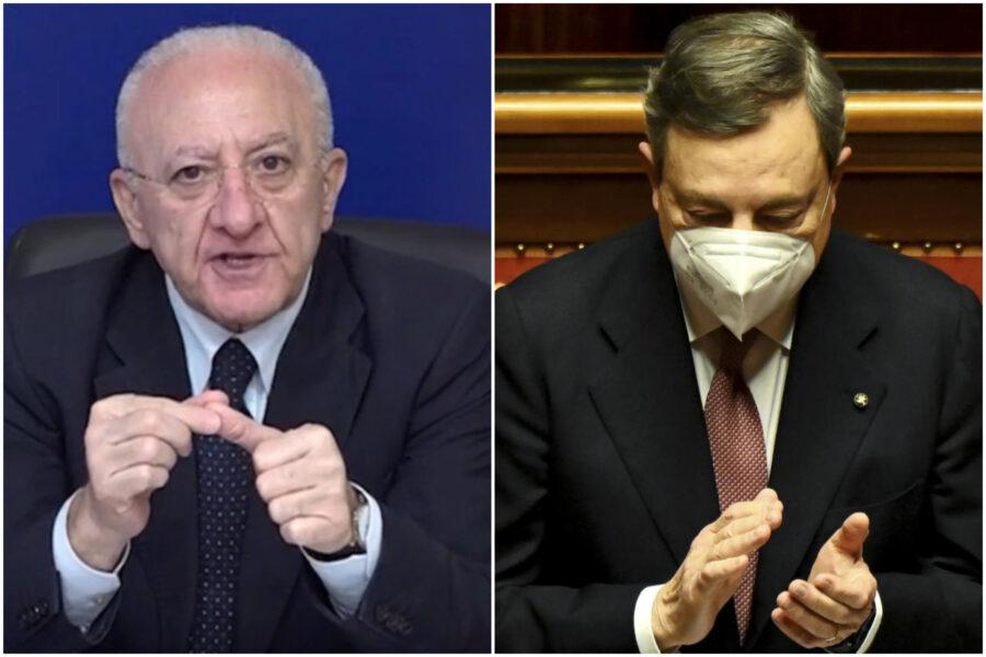 """Il vangelo secondo (De) Luca: """"Draghi, guai quando tutti parlano bene di te"""""""