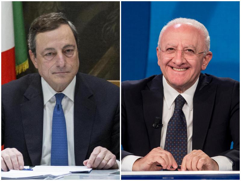 """De Luca affonda il governo Draghi: """"Velo pietoso su sottosegretari, pessimista su ministri tecnici"""""""