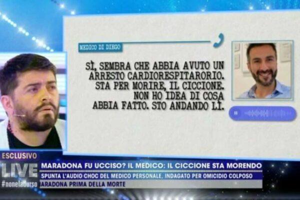 """Maradona, il medico Leopoldo Luque a Diego Jr.: """"Ho trattato tuo padre come fosse il mio"""""""