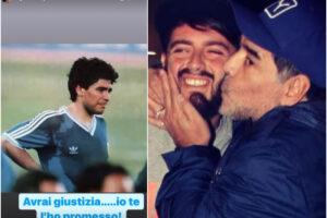 """Maradona, Diego Jr. contro i vocali dello scandalo: """"Papà avrai giustizia, te l'ho promesso"""""""